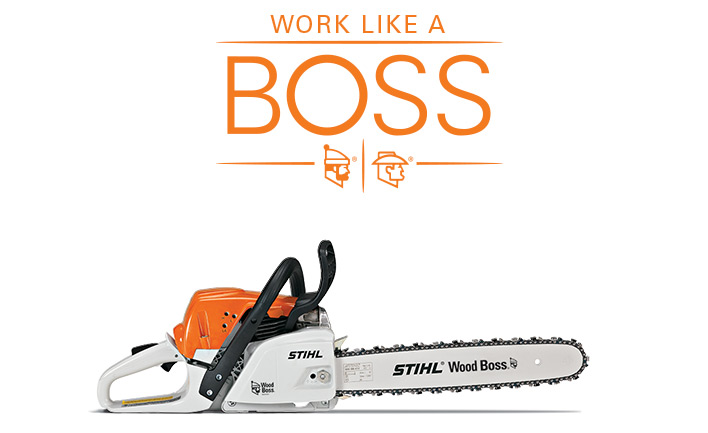 stihl chainsaws farm boss. cut wood\u2026like a boss stihl chainsaws farm boss